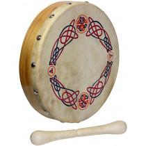 Glenluce 8inch Bodhran, Knotwork design