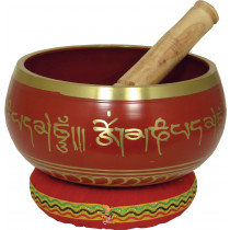Atlas Singing Bowl, 6inch in Red