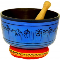 Atlas AP-E510 Singing Bowl, 8inch in Blue