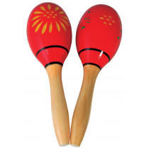 Atlas Wooden Maracas, 9inch pair