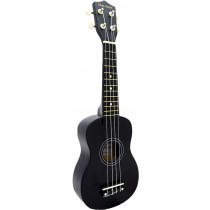 Blue Moon BU-02K Coloured Soprano Uke, Black