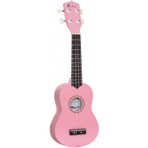 Blue Moon BU-02P Coloured Soprano Uke, Pink