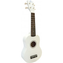 Blue Moon BU-02W Coloured Soprano Uke, White