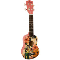 Blue Moon BU-05 Hawaiian Design Soprano Uke