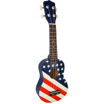 Blue Moon BU-06 USA Flag Design Soprano Uke
