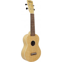 Ashbury AU-40S Soprano Ukulele, Flamed Oak
