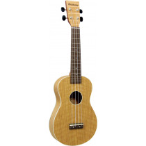 Ashbury AU-40C Concert Ukulele, Flamed Oak