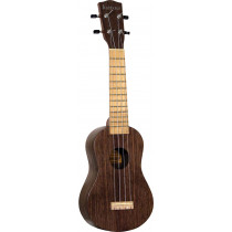 Ashbury AU-12 Soprano Ukulele, Black Walnut