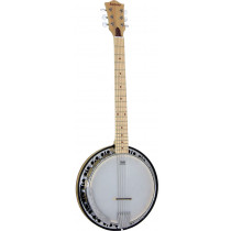 Ashbury AB-65 6 String Guitar Banjo, Maple