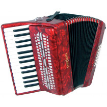 Scarlatti Piano Accordion, 24 Bass. Red