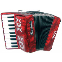 Scarlatti Piano Accordion, 8 Bass. Red