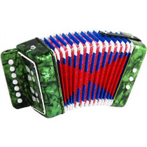 Scarlatti Child's 7 Key Melodeon, Green