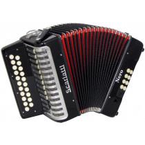 Scarlatti Nero D/G Melodeon, Czech Durall Reed