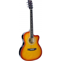 Blue Moon BG-15 Small Body Guitar, Cutaway, S/B