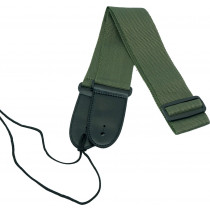 Viking GA-06G Webbing Guitar Strap, Green