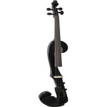 Valentino VE-20 Electric F Shape Violin, Black
