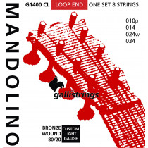 Galli G1400CL Mandolin Strings, Brz. Lights
