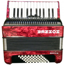 Hohner Bravo 48 Bass Accordion, Red