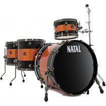 Natal Original Series 4 Piece Drum Kit, Orange/Black