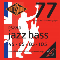 Rotosound RS77LD Jazz Monel flat wound strings
