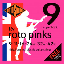 Rotosound R9 Roto Pinks Electric Guitar Set