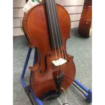 French 4/4 Violin by H Denis Mirecourt circa 1920, 2 piece back, narrow flame with matching neck and ribs, brow