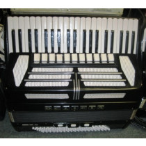 Delicia choral 4 piano accordion, black, 4 voice with case. VGC