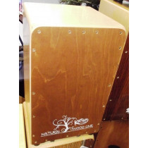 Katho Natural woodline cajon.  As new. Dark front plate