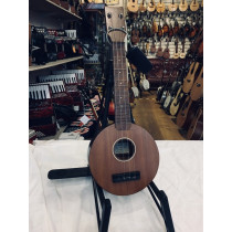 Lafoley Uke, round body c. 1930/40's with hard orig case. Collectors piece rather than players as some repair n
