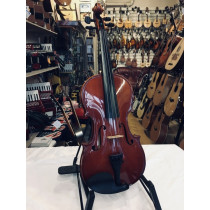German 1970's Stradivarius Copy 4/4 violin. Red varnish in excellent condition with new set up and lovely tone