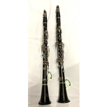 Pair of Boosey & Hawkes Edgware Clarinets, Bb Wooden, A Plastic, in nice condition complete with case