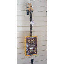 inchesthe Black Keysinches 3 string cigar box guitar, rounded back, wilkinson pickup