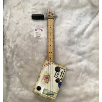 Cigar box guitar handmade in Bristol by Dr. Jazz. 3 string King Edward Box