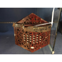 Wheatsone 46 key duet concertina. Rosewood ends, black bellows, with case