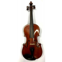 German Viola 15. 25inches dark red-brown varnish, narrow curl well flamed back, circa 1900, new setup, excelle
