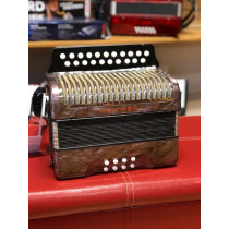 Vintage Hohner D/G melodeon, lilac shell finish, very good condition