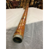 Didgeridoo. Tuneable. Handmade fibreglass. Low G, 102inches fully extended. Floral.