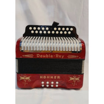 Hohner Double Ray 'Black Dot' B/C Swiss Made in very good condition (slight oxidisation on bellows corners) w