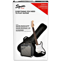 Squier Pack Stratocaster Guitar Pack, Black