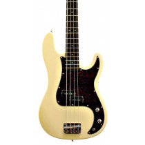 Sx Electric Guitars 8695 Electric Bass PB Vintage White
