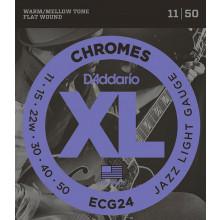 D\'Addario ECG24 Chromes Guitar Strings. Jazz L