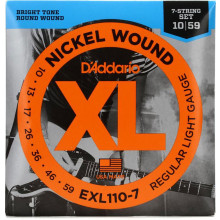 D\'Addario EXL110-7 7 String Guitar Set