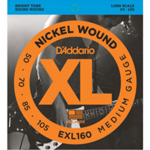 D\'Addario EXL160 Electric Bass Strings. Medium