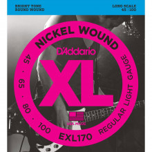 D\'Addario EXL170S Electric Bass Strings, Short S