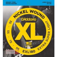 D\'Addario EXL180 Electric Bass Strings, Super L