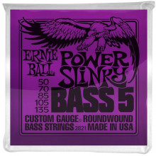 Ernie Ball P02821 Power Slinky 5st Bass Strings