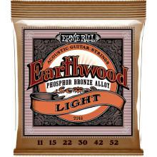 Ernie Ball Earthwood Guitar Strings Bronze, Light