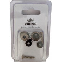 Viking GSB-10K Gun Metal Strap Buttons, Pair