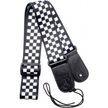 Viking VGS-40 Fabric Guitar Strap. Chequered