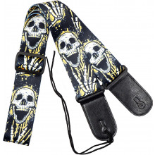 Viking VGS-42 Fabric Guitar Strap. Skulls
